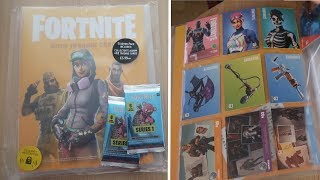 Fortnite 2019 Trading Card Starter Pack Opening | Collector's Album & 12 Trading Cards Series 1