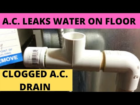 Central Air Conditioner Leaks Water On Floor Part 1