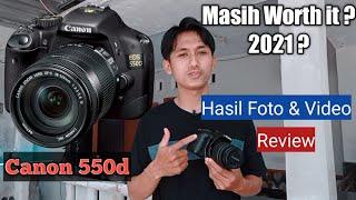 review Kamera Canon eos 550d lensa kit 18-55mm di tahun 2021