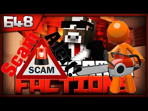 Minecraft FACTIONS Server Lets Play - PSYCHOPATH SCAMS US!!