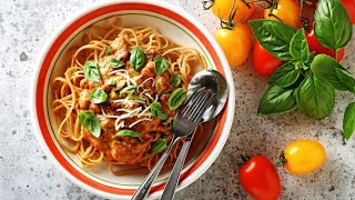 Roasted tomato sauce linguini / Linguine avec sauce aux tomates rôties
