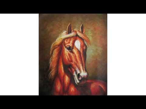 Peintures cheval youtube for Peinture sur fer a cheval