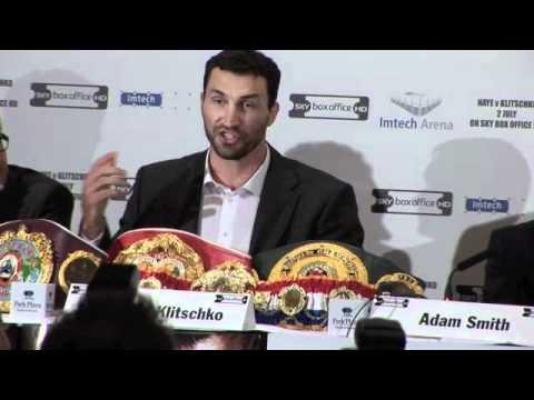 Wladimir Klitschko Interview / Press Conference for iFILM LONDON / Haye v Klitschko