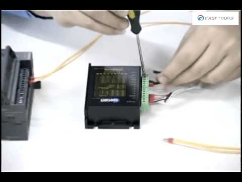 How to connect PLC with Stepper motor drive  YouTube