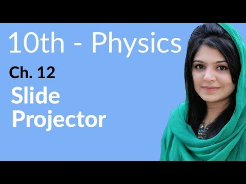 10th Class Physics Ch 12,Slide Projector-10th Physics book 2 Chapter 12