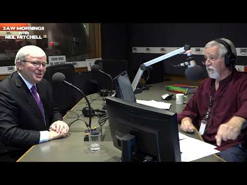 Kevin Rudd and Neil Mitchell clash over media ownership in Australia