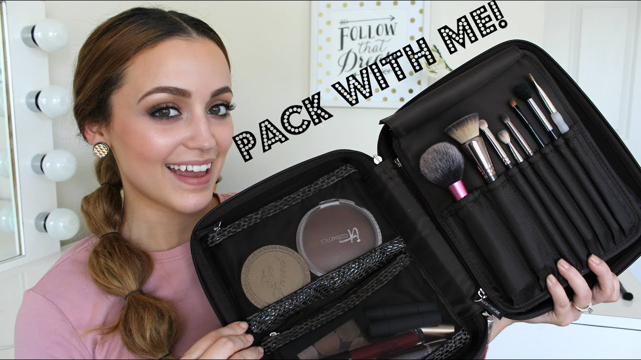 Whats In My Travel Makeup Bag Pack With Me Amp My Tips
