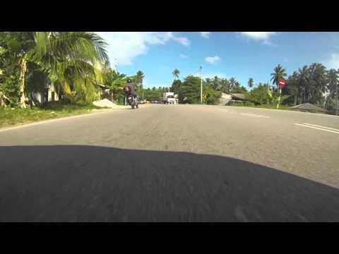 Pengkalan Chepa to Bachok drive, Kelantan, Malaysia (front bumper view)