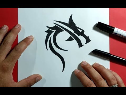 Como dibujar un dragon paso a paso 23 | How to draw a dragon 23