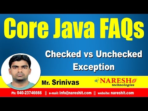 Checked vs Unchecked Exception || Core Java FAQs Videos