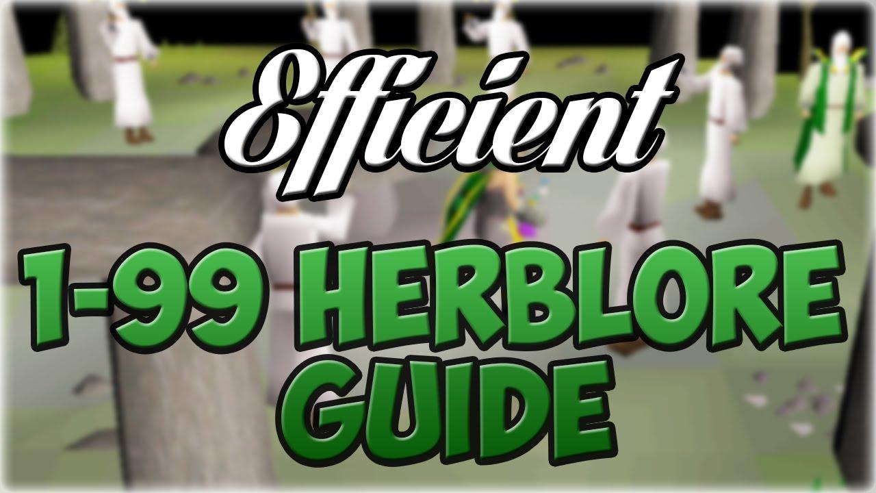 Oldschool runescape efficient 1 99 herblore guide 300 for Runescape exp table 1 99