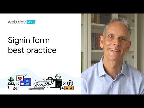 Sign-in Form Best Practice