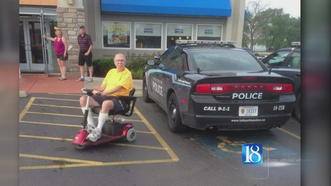 lafayette police respond to lpd car parked in handicapped space at ihop youtube. Black Bedroom Furniture Sets. Home Design Ideas
