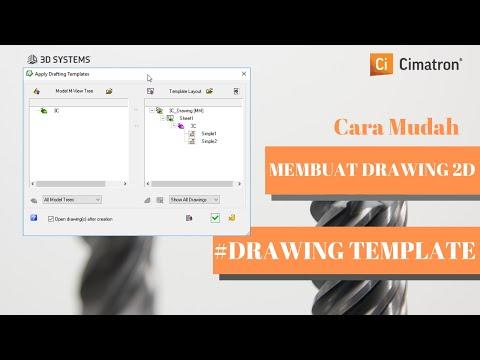 Cimatron Tutorial Drawing Template