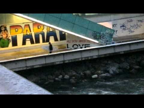Surfing On The River Mur In Graz Part 1