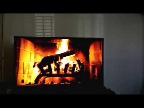 Test run of the Chromecast Google Music Fireplace feature