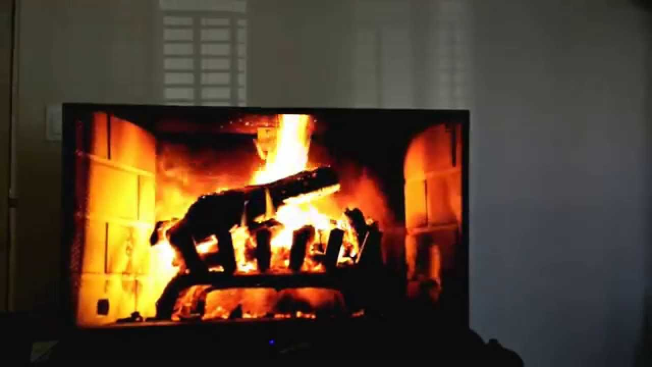 Test run of the Chromecast Google Music Fireplace feature - YouTube