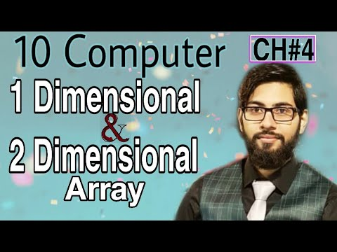 Types Of Array | One & Two Dimensional Array In GW BASIC | 10 Class Computer Chapter 4