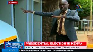 Airport-style security at Bomas of Kenya stops Larry Madowo on live TV