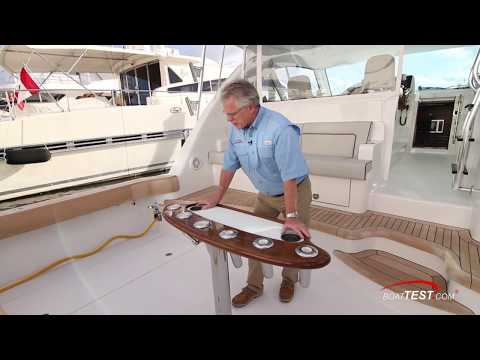 Hatteras GT45X Flybridge (2018-) Features Video - By BoatTEST.com