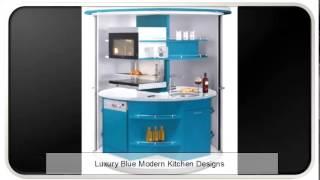 Luxury Blue Modern Kitchen Designs