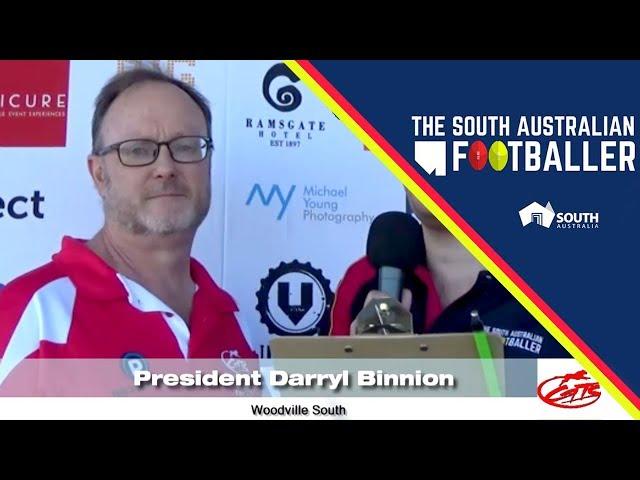 SA Adelaide Footballer 4-5: Club Legend of the Week - Woodville South President, Darryl Binnion