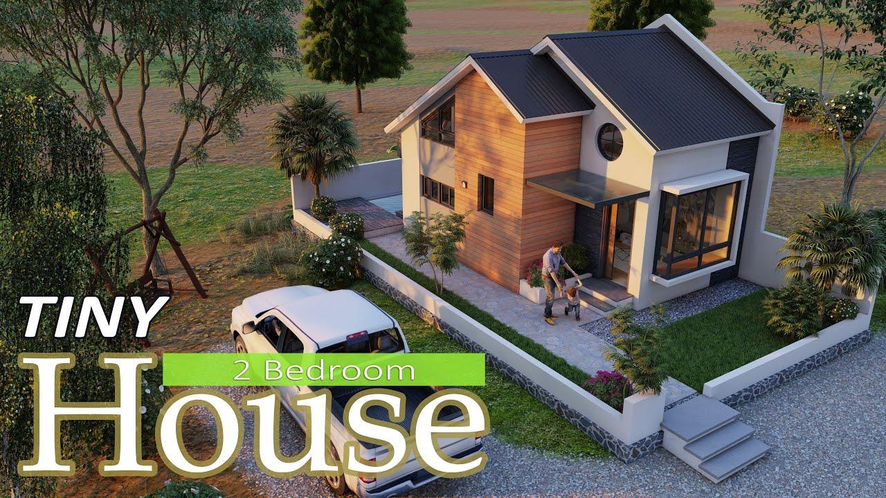 2 BEDROOM TINY HOUSE (5x7 Meters) ¦ FARMHOUSE ¦ Digital Tour