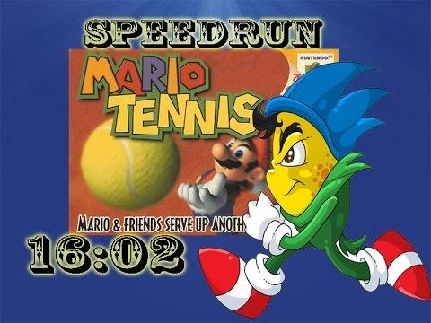 Mario Tennis 64 3 Cups Speedrun - 16:02