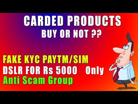 Should You Buy Carded Products Or Not ? Fake KYC SIM ? 🔥🔥 - YouTube