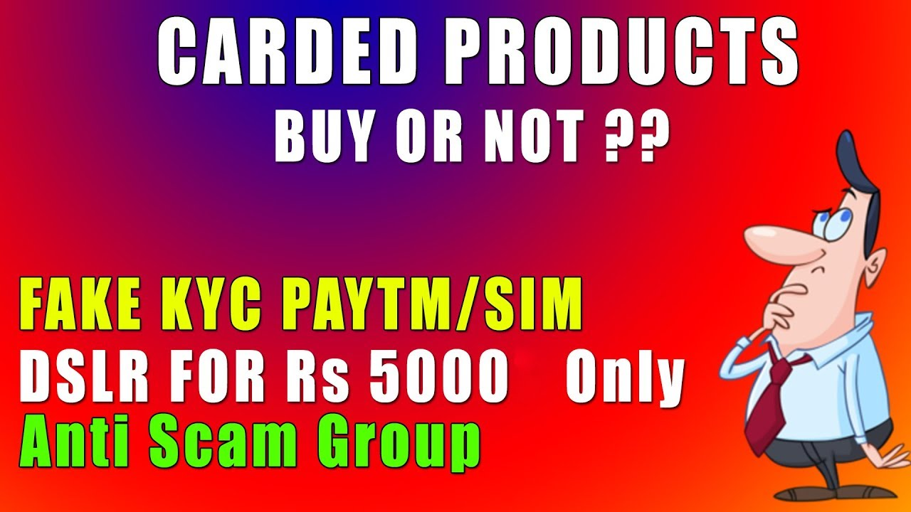Should You Buy Carded Products Or Not ? Fake KYC SIM ? 🔥🔥