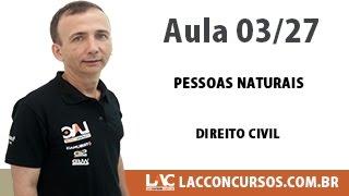 Pessoas Naturais - Direito Civil - 03/27