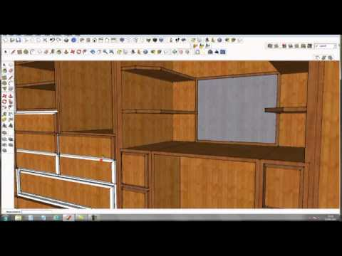 Google sketchup pro 8 furniture design part 2 by rahgsa0509