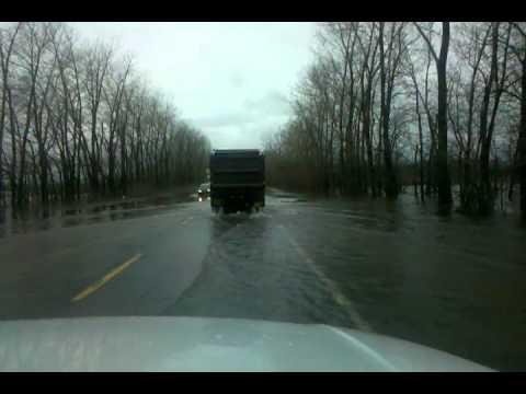 Flooding on US RT2 in Milton VT