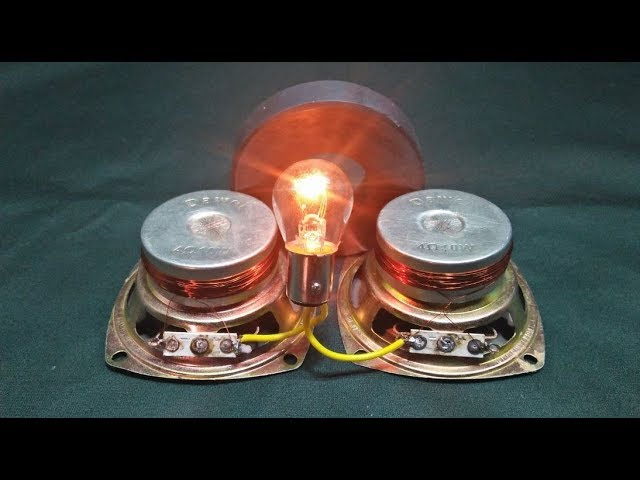 Free Energy Light Free Electricity Generator Magnet With Speaker And Copper Wire 101% Free Light Tec