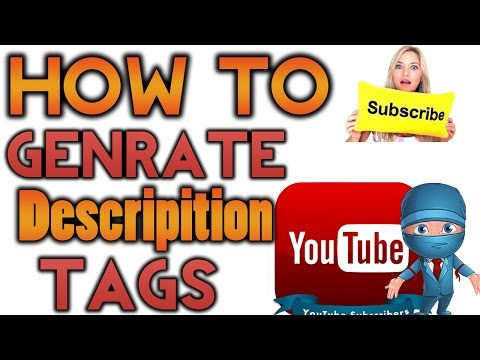How To Genrate Auto Tags And Descripition For Youtube Videos Urdu/Hindi Tutorial