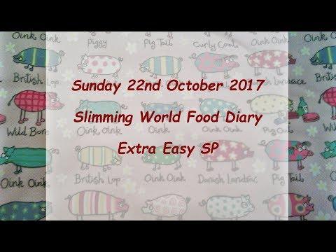 Day 22 #Vlogtober #Onplanoctober Slimming World SP Food Diary Sunday 22nd October 2017
