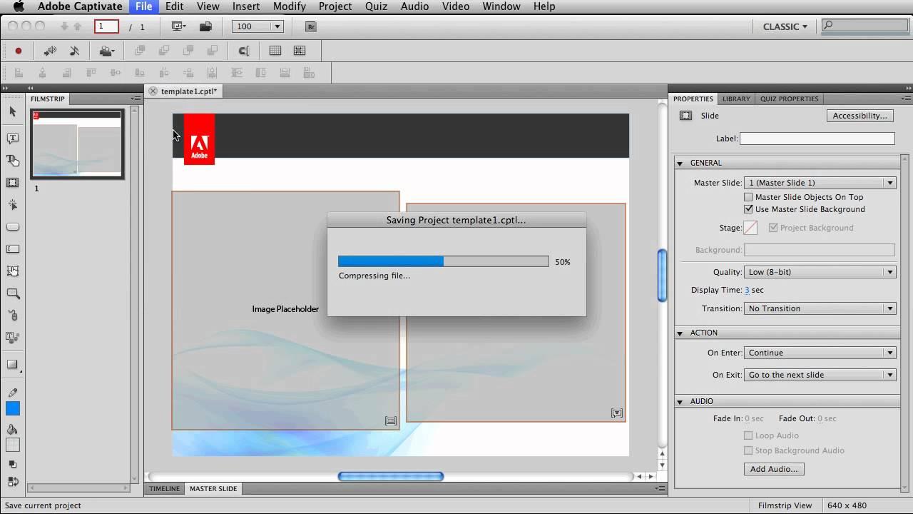 Sneak Peak Using Project Templateaster Slides In Adobe Captivate 5