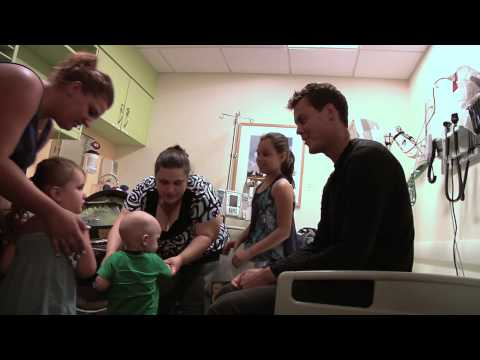Tuukka Rask Visits the Jimmy Fund Clinic