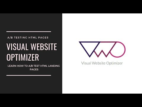Visual Website Optimizer (VWO): How To A/B Test HTML Landing Pages