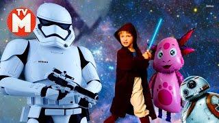 Для детей Приключения Давида и Лунтика ЛУНТИК BB8 ШТУРМОВИК МЕЧ ДЖЕДАЯ Видео для детей STAR WARS