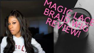 Magic Lace Front Braid Wig Review! Chade Fashions! MLB36