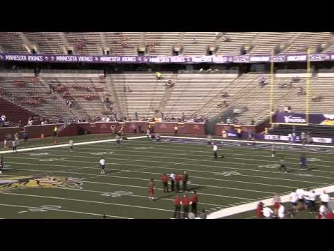 Blair Walsh 70 yard field goal in warmups