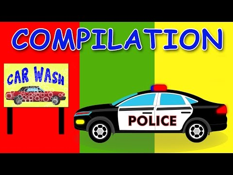 CAR WASH | COMPILATION | Videos For Children | Videos for ki
