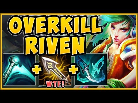 WTF! NO SKILL NEEDED?? OVERKILL CRIT RIVEN IS 100% STUPID! RIVEN TOP GAMEPLAY S9 - League of Legends