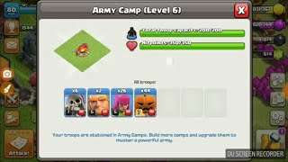 Using one of the most rare troops in clash of clans