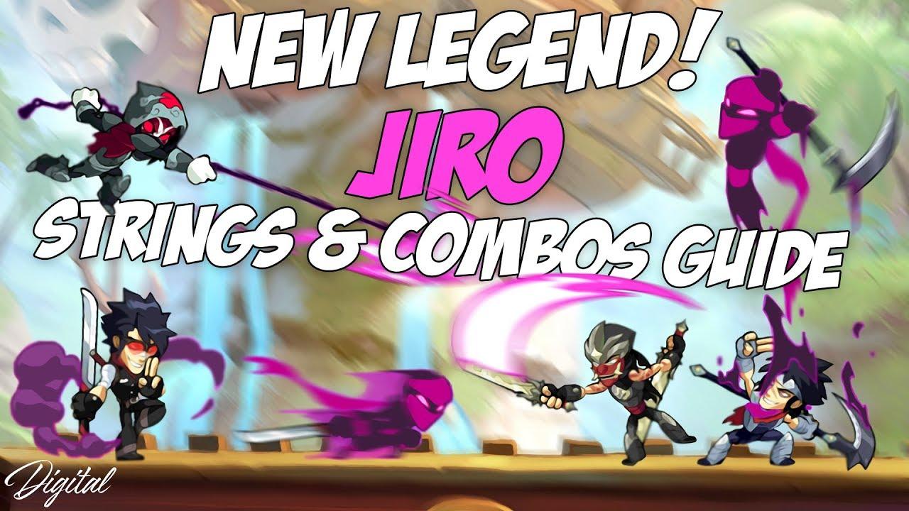 Jiro Combos & Strings | New Legend | Sword & Scythe Guide | Brawlhalla
