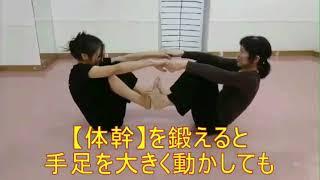 手足を大きく動かしてもぐらつかない、ぶれない体をつくる それが体幹ト...