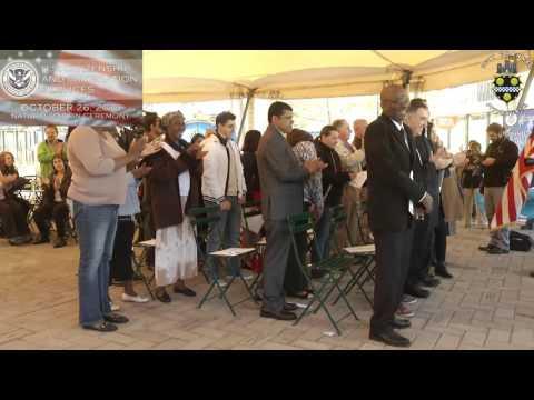 U.S. Citizenship & Immigration Services Naturalization Ceremony - 10/26/15