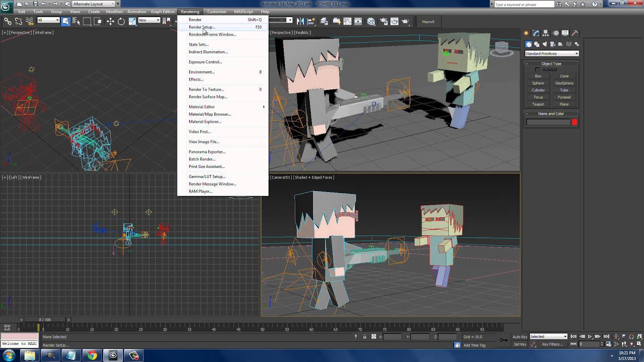 How to Change render to 60 Fps 3ds Max 2013 - YouTube