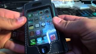 ÉTUI FLIP IPHONE 4 / 4S EN CUIR sur Shopisapro.com